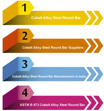 Cobalt Alloy Steel Round Bars / Rods Manufacturers in India
