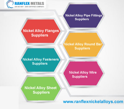 Nickel Alloy Flange,Fasteners,Sheet,Pipe Fittings,Round Bar,Wire Suppliers in India
